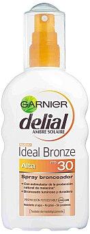 Delial Garnier Spray bronceador FP-30 resistente al agua Ideal Bronze Spray 200 ml