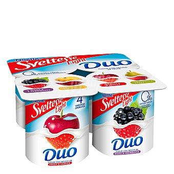 Sveltesse Nestlé Yogur desnatado Duo de Frutas Pack de 4 x 125 g