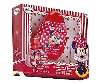 DISNEY Estuche infantil de Minnie con colonia vaporizador (30ml) más gel y champú (300ml) 1u