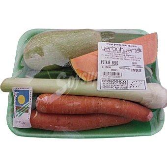 Yerbahuerto Potaje de verduras para bebes ecológico Bandeja 650 g