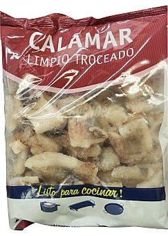 Profand Calamar limpio troceado congelado Paquete 500 g