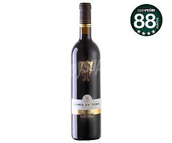 DAMA DE TORO Vino tinto reserva con denominación de origen Toro botella de 75 centilitros