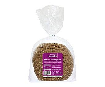 Pan Especial Pan integral semillas con cereales y pasas 400 gramos