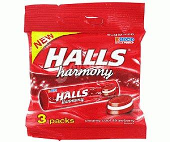 Halls Caramelos harmony sin azúcar fresa 84 g