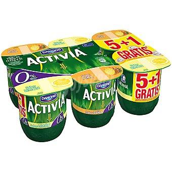 Danone Activia Yogur desnatado 3 sabor piña + yogur desnatado 3 sabor limón pack 5 unidades 125 g + 1 gratis Pack 5 unidades 125 g