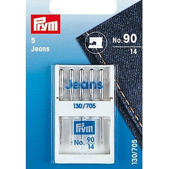 Prym Jeans 130/705 estuche 5 agujas para maquina de coser del nº 14
