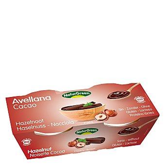 Naturgreen Postre avellana cacao - Sin Gluten Pack de 2x125 g