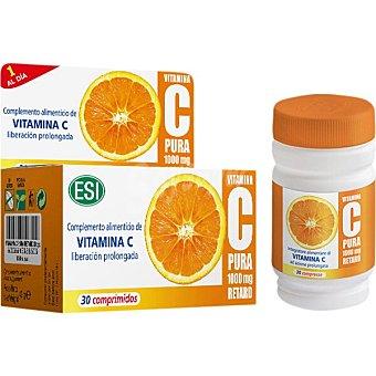 ESI Vitamina C pura Retard de liberación prolongada 30 comprimidos 1000 mg