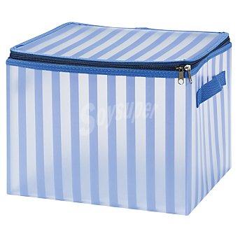 CASACTUAL Strippes Caja Mediana con asa en color azul a rayas 17,5 l 17,5 l