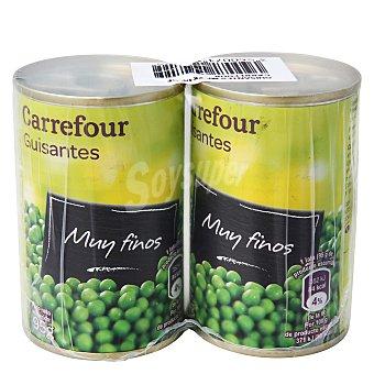 Carrefour Guisantes muy finos al natural Pack de 2 unidades de 95 g