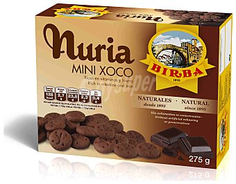 BIRBA Nuria Mini Xoco Galletas de chocolate Estuche 275 g