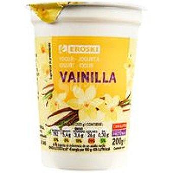 Eroski Yogur de vainilla Tarrina 200 g