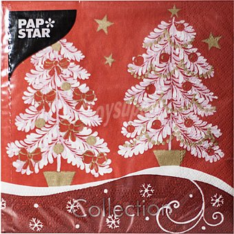 PAP STAR servilletas Winter Trees 33x33 cm  paquete 20 unidades