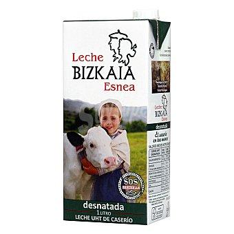 Bizkaia Esnea Leche desnatada uht Brik 1 litro