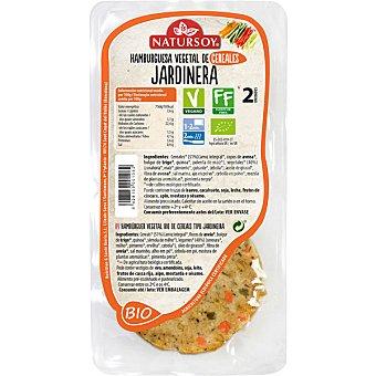 Natursoy Hamburguesa vegetal de cereales tipo Jardinera bio 2 unidades (155 g)
