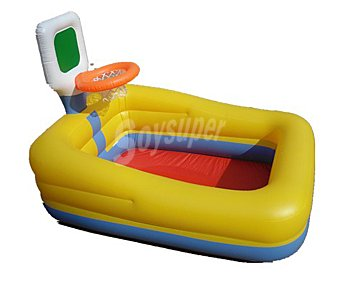 BESTWAY Piscina hinchable infantil con mini canasta de baloncesto, con medidas de 150x110x105 centímetros, capacidad de 1732.5 litros y recomendada para niños de + 3 años 1 unidad