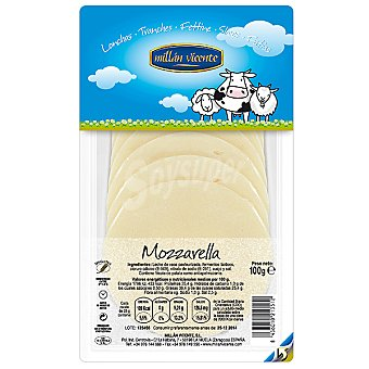 Millan Vicente Queso mozzarella en lonchas Envase 100 g