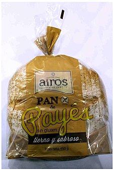 Airos Pan de Payes Cortado Sin Gluten Airos 450 g