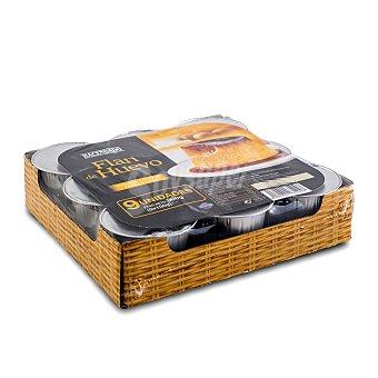 Hacendado Flan huevo baño maria Pack 9 x 100 g - 900 g