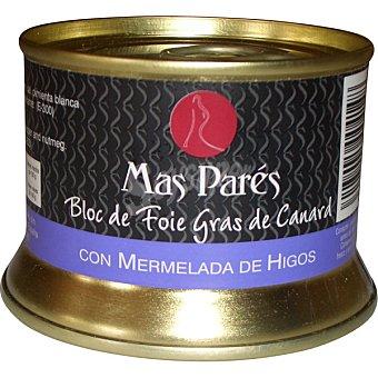Mas pares Bloc de foie gras de pato con mermelada de higos lata 130 g lata 130 g
