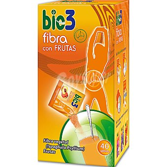 BIO3 Fibra con frutas batido soluble Estuche 40 sobres