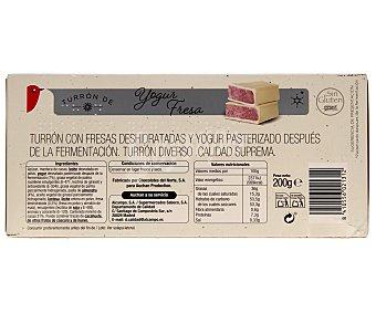 Auchan Turrón praliné de yogurt de fresa 200 gramos