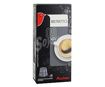 Auchan Café intenso monodosis compatibles con Nespresso 10 uds