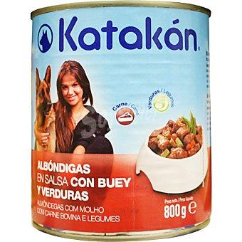 Albóndigas en salsa con buey y verduras para perros Lata 800 g