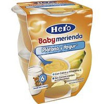 Hero Merienda de plátano Pack 2x130 g