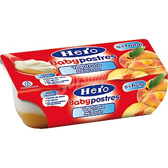 Hero Baby Postre yogufruta melocotón estuche 260 g Pack 2x130 g