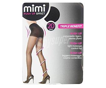 MIMI Push-Up Panty 20 den push-up color negro, talla M