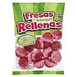Golosinas fresas del bosque rellenas (fresi pink) Paquete 200 g Hacendado
