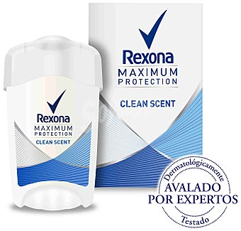 Rexona Women Maximum Protection desodorante en crema Clean Scent anti-transpirante envase 45 ml Envase 45 ml