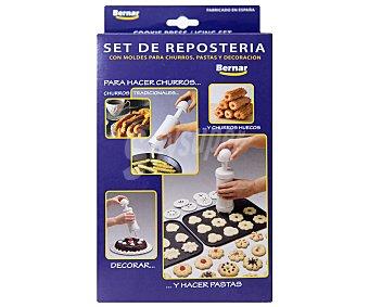 BERNAR Set de repostería con moldes para pastas, churros y decoración, incluye 14 discos con diferentes formas 1 Unidad