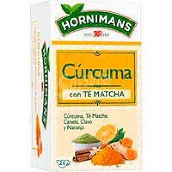 Hornimans Infusión cúrcuma con té matcha hornimans, caja 20 sobres