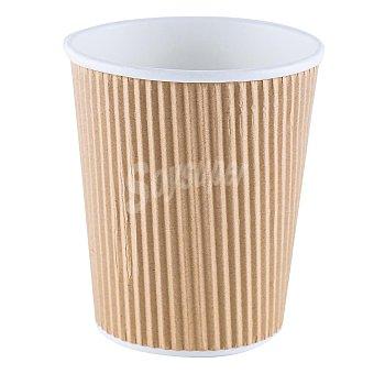 Betik Vaso Compostable Corrugados - Beige 12 ud
