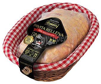 Coren Pavita rellena de dátiles, bacón y anacardos Bandeja 2,5 kg peso aprox