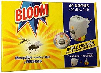 BLOOM INSECTICIDA ELECTRICO LIQUIDO 60 NOCHES APARATO + RECAMBIO MOSCAS Y MOSQUITOS u
