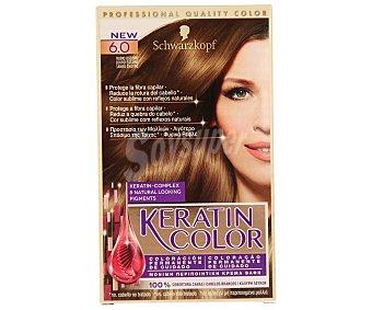 Keratin Color Schwarzkopf Tinte coloración permanente nº 6.0 rubio oscuro Caja 1 unidad