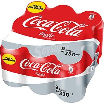 Coca-Cola Light Cola light 9 latas de 33 cl