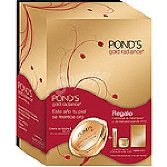 POND'S Gold Radiance Crema anti-arrugas de noche + crema de noche tarro 10 ml + mini crema de día 7 ml + agenda Tarro 50 ml