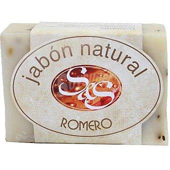 S&S Pastilla de jabón natural de Romero pastilla 100 g Pastilla 100 g