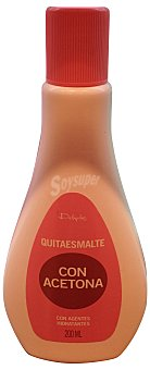 DELIPLUS Quitaesmalte con acetona con agentes hidratantes Botella de 200 ml