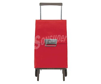 ROLSER Plegamatic Carro de compra plegable con 2 ruedas, color rojo, Plegamatic ROLSER.