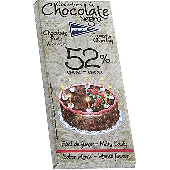 HIPERCOR cobertura de chocolate negro 52% cacao fácil de fundir tableta 200 g