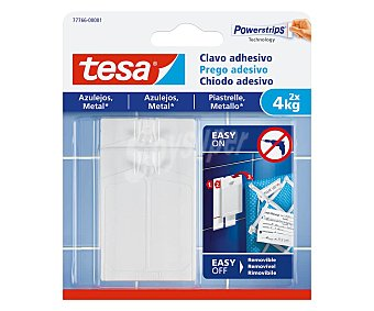 Tesa Clavo adhesivo superficies lisas hasta 4 kg, TESA. 4 kg