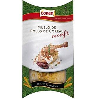 Coren Muslo de pollo de corral en confit listo en 15 minutos envase 300 g 15 envase 300 g