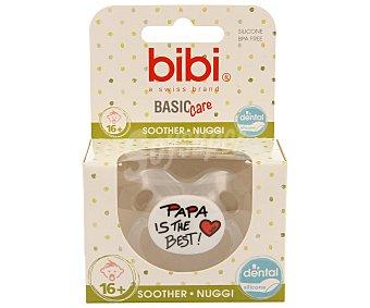Bibi Chupete anatómico de silicona para bebés de + de 16 meses Basic care