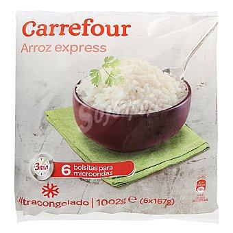 Carrefour Arroz blanco precocido Pack de 6ud