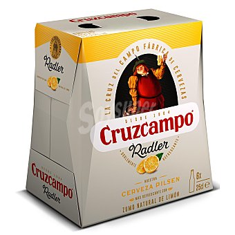 Cruzcampo Cerveza Radler Pack 6 x 25 cl